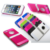 2014 New Hot Sales Multi Color Plating Bracket Case for iPhone 5G 5S 5 Dirt-resistant  Shockproof Hard Back Cover for Appple