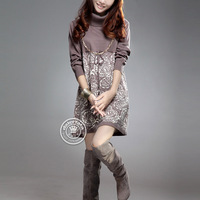 2013 autumn and winter blousier wool sweater pullover sweater loose basic shirt long-sleeve sweater Women