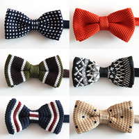 Quality male bow tie formal married double layer fashion knitted collar