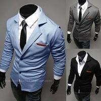 Blazers for men turn-down collar Aliexpress hot sale man suits slim men blazer designs double breasted autumn blazers 2014