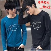 Semir men's clothing Men long-sleeve T-shirt print teenage male clothes