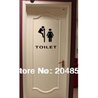 Fashion The bathroom logo 3  Pattern PVC Bathroom or bedroom or  glass  Wall Sticker Home Decor(30*24cm)