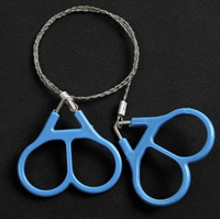 Free Shipping Plastic Ring Steel Wire Saw Scroll Saw Emergency Outdoor Camping Hiking Survival Tool 2pcs/lot