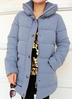 2013 winter thickening thermal cotton-padded jacket all-match medium-long outerwear wadded jacket stand collar cotton-padded