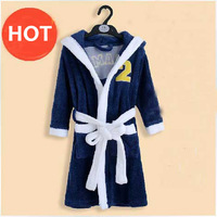 Kid Robe Unisex Children winter coral fleece robe bathrobe boys and girls thick warm pajamas bathrobe hooded tracksuit Hot Sale