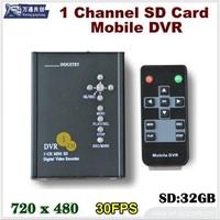 1-CH SD card recorder / car video recorder 1 channel HD / 1-ch Car DVR