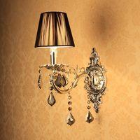 Single crystal wall lamp silver wall lamp fashion corridor wall lamp bedside wall lamp