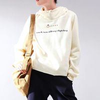 Autumn 2013 women's letter print zipper solid color thickening with a hood pullover sweatshirt
