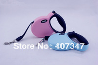 Free shipping! MOQ 6 pcs, Small size Retractable Dog Leash without Side Cover Plates, 2 colors available