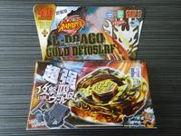 1pcs Beyblade Metal Fusion 4D set  L-DBAGO GOLD DF105LRF kids game toys Christmas gift