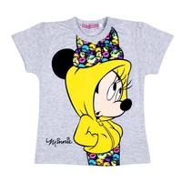 5005 gray minnie children clothing girl short-sleeve cartoon t-shirt baby summer cotton 100% clothes new good quality