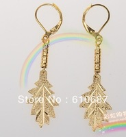 24 k gold plated earring eardrop 24 k gold leaf eardrop classical female models