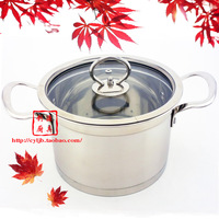 Quality right angle pot stainless steel pot electromagnetic furnace soup pot soup pot elegant binaural pot  free shippng