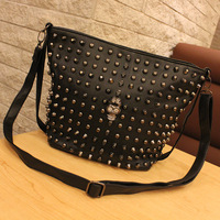 Female bags 2013 skull rivet vintage bag all-match bag messenger bag small bags