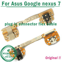 100% Original Flex Cable For Asus Google nexus 7 USB Charger Charging Dock Port Flex Cable Replacement Free Shipping