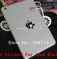 For Ipad mini 1 2 For Ipadmini 1 2 Tablet decal back Guard Vinyl Carbon Fiber Sticker Skin Cover 1000pcs/lot