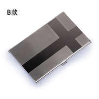 Super hot stainless steel mirror flip wiredrawing white fashion business card box cartridge