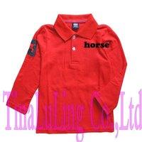 Brand New Boys and Girls Long Sleeve Sport t shirts kids famous brand T-shirts Children's Net Cotton Tees*5pcs/lot Drop Shipping