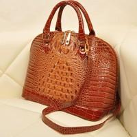 New Arrived!! Hot Sale Women PU Leather Handbags Crocodile Grain Women Shoulder Handbags Animal Print Fashion Totes