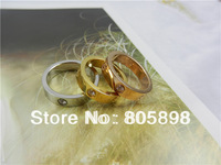 316L set stainless steel rings with CZ stones BY DHL Free Shipping