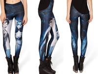 2013 New Arrival Top sale Milk Leggigs Digital Printing Woman CORPSE BRIDE LEGGINGS For  Women S106-377