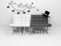 ALFOREVER-Live-Laugh-Love vinyl wall decal quote wall sticker love writing on wall place