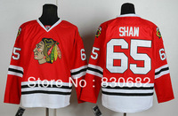 Free Shipping Authentic American Ice Hockey Jerseys Chicago Blackhawks #65 Andrew Shaw Jersey Embroidery Logo Mix Order M-XXXL