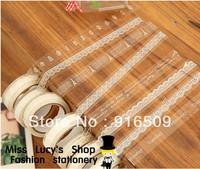 New fashion white transparent lace PVC masking tape/cute adhesive tape / DIY sticker label/wholesale