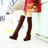 Tall boots knee-length boots platform chili tight stovepipe
