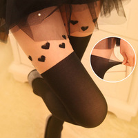 2014 New Women Love Ultra-thin Skin Color Spring harajuku Stockings Patchwork Sexy Pantyhose