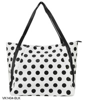4 Colors Free shipping 2013 Fashion Totes Polka Dots Women Handbags Tote Handbag  Zipper Shoulder Bags VK1404