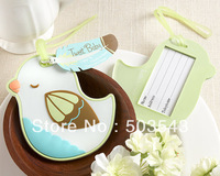 "free shipping 100pcs/lot wedding favor ""Tweet Baby"" Baby Bird Luggage by fedex"