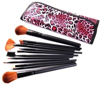 Best Selling 12 pcs Cosmetics Makeup Brush Tool Leopard Make Up Beauty Brushes Set Promotion BE049