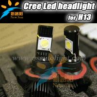 Free shipping Hottest!!! 2 x 1800Lm H13 25W Cree CXA1512 Car Led headlight High/Low beam car truck head bulb
