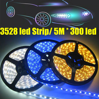One Roll 3528  5M * 300 LED Strip Light  DC 12V with White/Yellow/Blue/Red/Warm White/RGB  for car/building/decorate