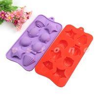 Wholesale 5pcs/lot Silicone Shell Fish Muffin Cake Baking Mold Chocolate Mould DIY Tool