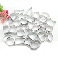 31Shapes Cookie Cake Jelly Metal Cutter Tin Mould Baking Kitchen DIY Tool