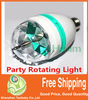 Free ship 3W RGB LED Mini Party Light Dance Party Lamp Holiday Lights Auto Rotating New E27 colorfull Bulb Christmas Lighting