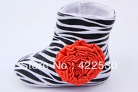 Free shipping 2013 new arrival 100% cotton soft outsole baby shoes princess flower shoes infant toddler girl shoes hot sell!!!