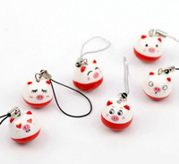 10pcs/lot Mobile Cell phone charms strap Cartoon Ceramics Lovely Pet Pig cellphon Pendant Bag pendant Free shipping