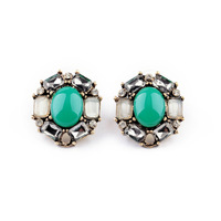 ed00396 shijie New Styles 2013 Fashion Jewelry Elegant Antique Resin Round Stud Earrings