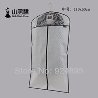 Little black dress quality transparent thickening suit overcoat suit dust cover clothes set cover storage bag