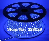 DHL SHIPPING 100m High Quality 110V/220V High Voltage LED Smd 3528 Flexible Strip Rope Light 4w/m IP67 Waterproof