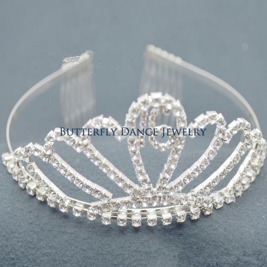 Sparkling Crystal Rhinestone Sweet 16th Birthday Party Tiara Crown(China (Mainland))