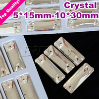 7*21 8*24 6*18 5*15 10*30 9*27 Baguette Shape Sew On  Stone Crystal Clear Color Rectangle Rhinestone For Clothing,DIY
