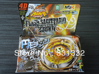 1pcs Beyblade Metal Fusion 4D set FLASH SAGITTARIO 230ED BB126 kids game toys children Christmas gift