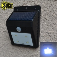 ree shipping new arrival 2014Outdoor waterproof 4led  induction lamp solar wall lamp aisle lights