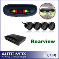 Freeshiping Rear roof mounting LED Display rear view parking sensor kit system OEM Car Reverse Backup Radar with 4 sensors