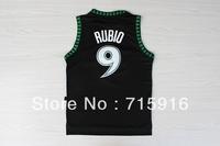 # 9 Rubio retro black and blue mesh jersey