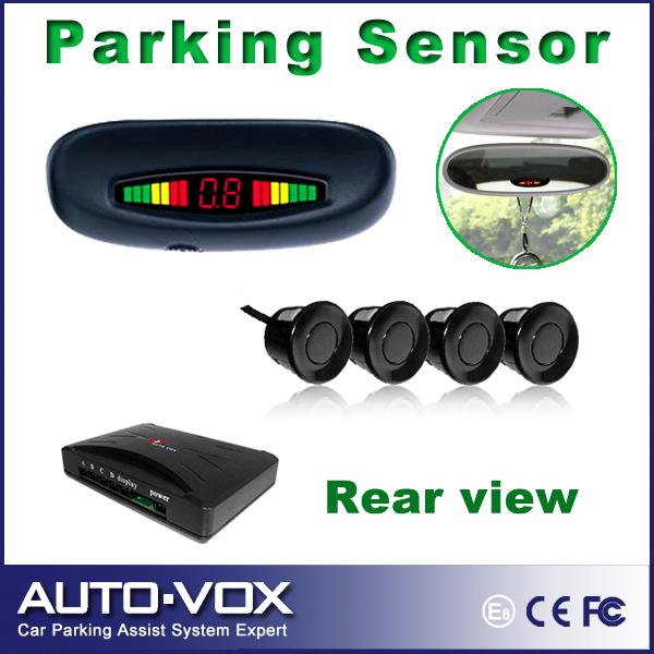 Car Reverse Backup Radar Rear roof mounting LED Display rear view parking sensor system with 4 sensors freeshiping(China (Mainland))